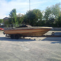 27' Twin Engine Performance Boat w/Trailer - $7,400
