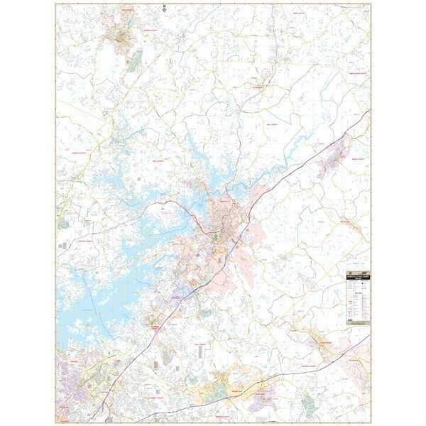 Gainesville & Hall Co, GA Wall Map