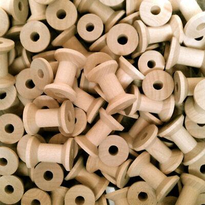 5 wood spools bobbin deep cut sewing craft ribbon 30mm x 21mm MULTI-BUY DISCOUNT](Discount Ribbon)