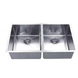 Free double undermount stainless steel sink