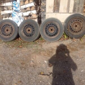 4 - winter tires and rims  p 205/55/R 16  with snow flake