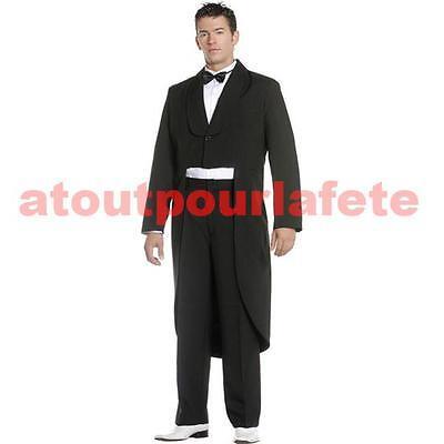 Redingote queue de pie noire, Belle Epoque, 1900, Costume, - Queue De Pie Kostüm