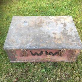 Old ammo box tool box/man cave