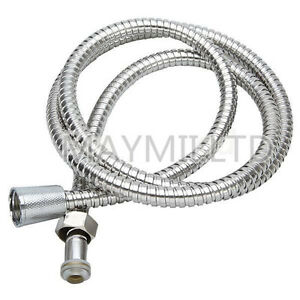 New 1.5M Flexible Chrome Stainless Steel Bathroom Bath Shower Water Hose Pipe I