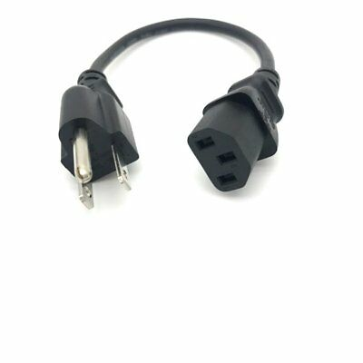 - 1FT COMPUTER POWER SUPPLY AC CORD CABLE WIRE FOR HP DELL ACER DESKTOP PC SYSTEM
