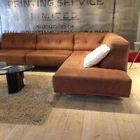 Sofa modulaire en cuir nubuck