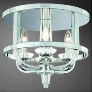 WOW! 4-Light Chrome & Crystal Flushmount Fixture – WOW!