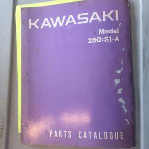 73 74 75 76 Kawasaki S1 A B C 250 Parts Catalogue Regina Regina Area image 1