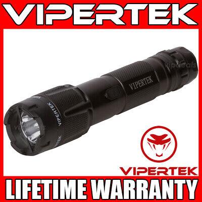 Vipertek Stun Gun Vts-t03 Black 500bv Metal Rechargeable Led Flashlight
