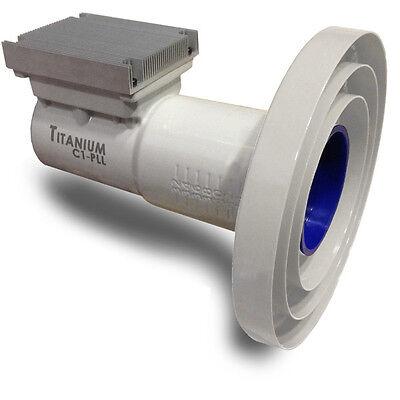 Titanium Satellite C1-PLL Phase Lock Loop C-Band Dish LNBF with WiMax Filter FTA