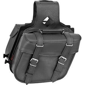 River Road Zip-Off Compact Slant Saddlebags (NEW NEVER USED)
