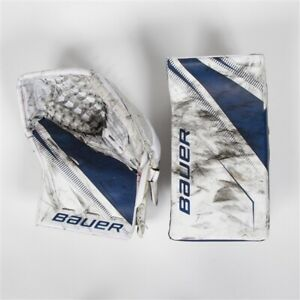 Frederik Andersen game worn Bauer glove and blocker