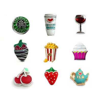 FOOD AND DRINK FLOATING CHARMS FITS ORIGAMI OWL (Food And Drink)