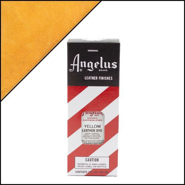 Angelus YELLOW Leather Dye 3 oz. with Applicator for Shoes Boots Bags NEW Crafts