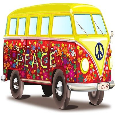 30 Custom Peace Bus Personalized Address Labels