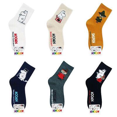 New 6 Pairs Moomin Character Socks Women Socks Cute Cartoon Socks MADE IN KOREA