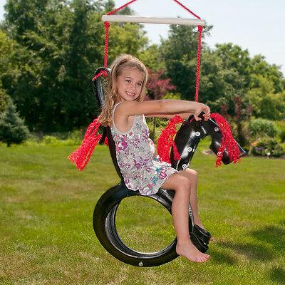 Swing Set Parts Saddle Horse Rider Pony Tire Swing Seat Playground Equipment (Pony Tire Swing)
