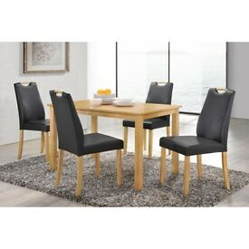 **100% GUARANTEED PRICE!**LINGFIELD DINNING TABLE WITH 4 LEATHER CHAIRS OPTION-SAME DAY DELIVERY
