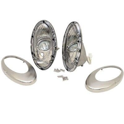 ITC Stainless 2 3/4 x 6 1/4 Marine Boat Hull Mounted Docking Lights 81387-L/R