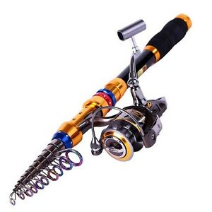 Saltwater freshwater telescopic fishing rod with reel for Best freshwater fishing rods