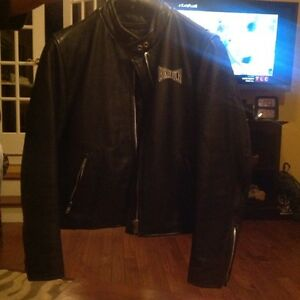 Womans leather motorcycle jacket size medium