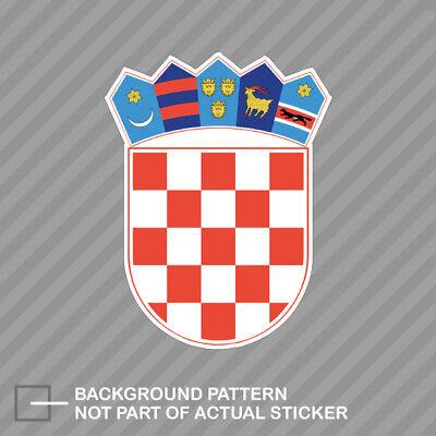 Croatia Coat Of Arms (Croatian Coat of Arms Sticker Decal Vinyl Croatia flag HRV HR )