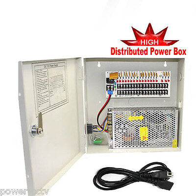 Power-box 18-port (New Power Supply Box 18 Port 12Volt 10Amp DC Distributed Power with PTC Fused )
