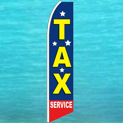 Tax Service Flutter Flag Tall Advertising Sign Feather Swooper Banner Income