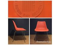 Two robin day chairs by hille