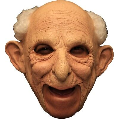 Deluxe Gus Old Man Mask Open Mouth Easy Drink Eat Halloween Latex Adult Mask (Easy Halloween Mask)