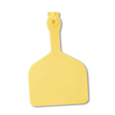 Z-TAG FEEDLOT ONE PIECE Cattle/Cow Blank Ear Tags YELLOW 50 Count (Piece Ear Tags)