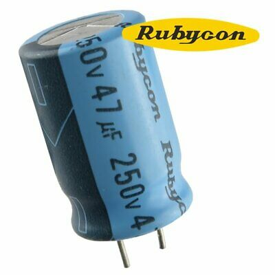 Rubycon 47 Uf 250 Volt Radial Lead Electrolytic Capacitor Usa Seller