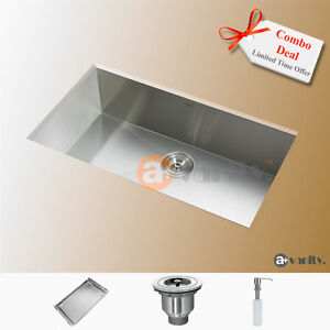 "27"" Comtemporary Style Stainless Steel Kitchen Sink /Free stuff"
