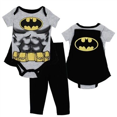 0 3 Month Costumes (NEW 3PC BABY BOY BATMAN COSTUME PANT SET  WITH CAPE - 0/3, 3/6, 6/9)