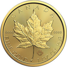 1 oz 2019 Gold Maple Leaf Coin - RCM - .9999 Au - Royal Canadian Mint