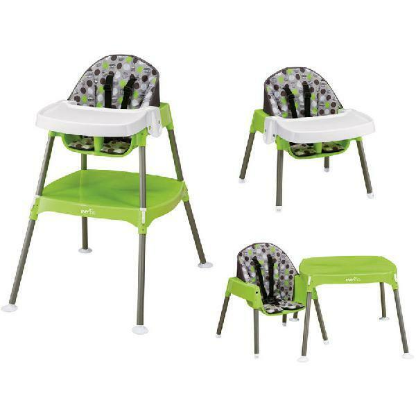 Evenflo 3-in-1 Convertible High Chair, Dottie Lime- Kids, Toddlers