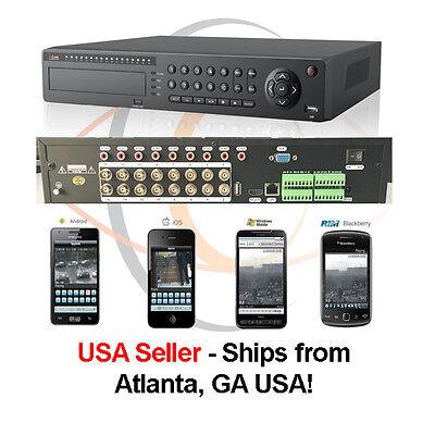 16 Ports Tribrid HD 1080p H.264 Network Analog/IP Standalone -