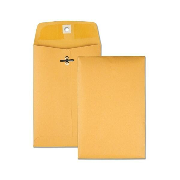 """Office Depot Brand Clasp Envelopes, 6 1/2"""" x 9 1/2"""", Brown, Box Of 100"""