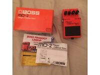 Boss MD-2 Mega Distortion Guitar Pedal, Excellent Condition in Original Box RRP £65