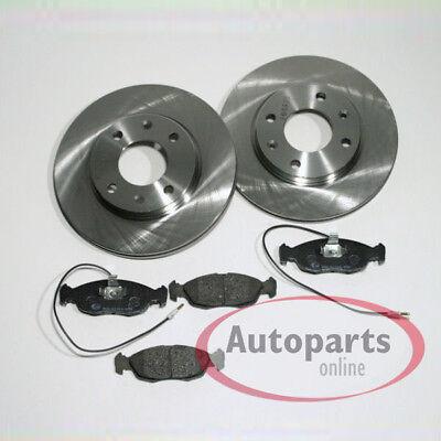Bremsscheiben Bremsen Bremsbeläge Klötze für vorne die Vorderachse Peugeot 306