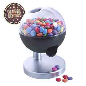 ONE TOUCH CANDY SWEET GUMBALL DISPENSER MACHINE NUT SNACK PARTY FUN KIDS HOME