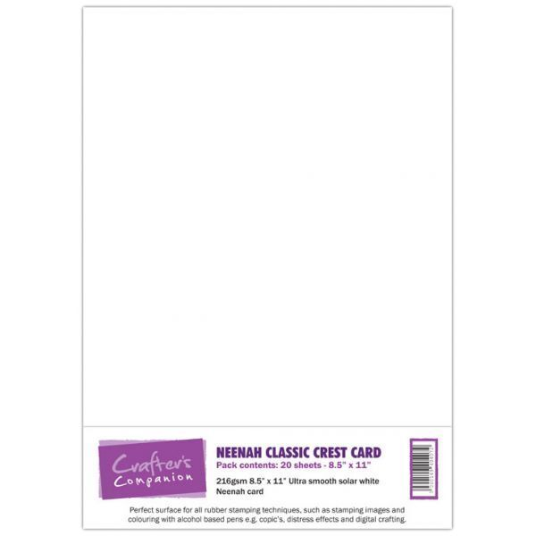 Crafters Companion Neenah solar white card - 20 sheets