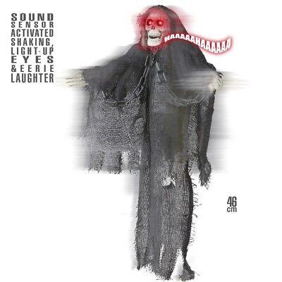Grim Reaper TOD SKELETT animiert Bewegung + Sound - Animierte Halloween Skelett