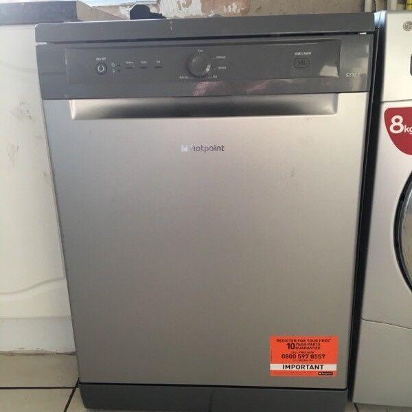 Hotpoint Dishwasher In Graphite 3 Months old
