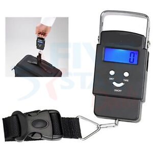 Portable 40kg Handheld Digital Luggage Scale Balance Weighing Suitcase Travel