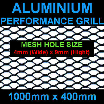 40x100cm Mesh 4x9mm Black Aluminium Racing Race Net Grill Spoiler Bumper Vent