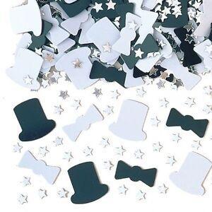 Casino Party New Year Black White Top Hat Mix Metallic Confetti Decoration993011