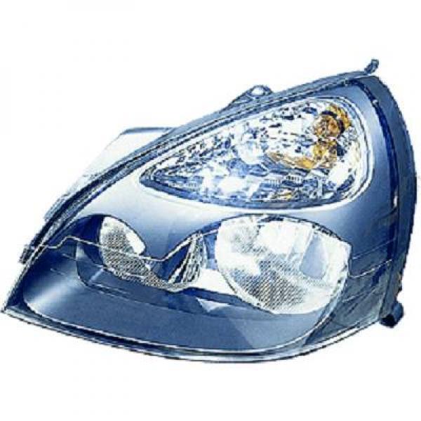 Scheinwerfer rechts RENAULT CLIO 06/01-12/03 TYC/DEPO H7+H1 für reg ele