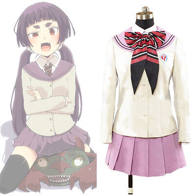Ao no Blue Exorcist Kamiki Izumo Moriyama Shiemi School Uniform Cosplay Costume
