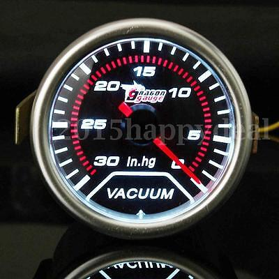 2'' 52MM UNIVERSAL CAR AUTO LED VACUUM CAR MOTOR GAUGE 30 - 0 IN.HG METER